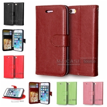 Luxury PU Leather Wallet Case Cell Phone Bags Case Cover for iPhone 5G 5S SE Fundas Card Case Solt Flip Stand Phone Coque Capa(China)