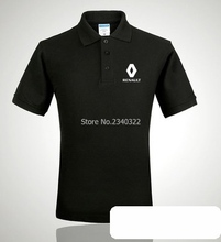 Renault logo polo shirt short-sleeved V-neck summer clothes for men and women 4s shop lapel short sleeve cotton polos