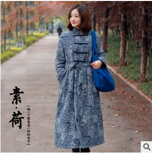 In the winter of 2015 new product, the original design of the womens hand sewing cotton flax cotton-padded clothesОдежда и ак�е��уары<br><br><br>Aliexpress