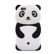 2017 Fashion 3d cartoon classic animal mascot cute panda bear big eye joy doll soft silicone cell phones case cover For Iphone(China)