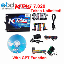 2017 Unlimited Token! KTAG 7.020 K-Tag ECU Programming Tool HW V7.020 SW 2.23 With GPT Function Better Than Ktm100 DHL Free Ship
