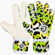 Janus Leopard Football Soccer Goalkeeper Gloves for Child Kid with Finger Save Protection Goalie Keeper GK Gloves Flat Cut NEW