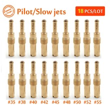 18 Pieces Carb Idle Slow/Pilot Jets For GY6 50CC Scooter ATV LANCE ZNEN JONWAY NST LIFAN SUNL BAJA Injector Nozzle