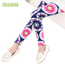 Multi Color Girl Pant Printing Flower children pants Spring Autumn kids leggings skinny girls leggings Kids Clothing(China)