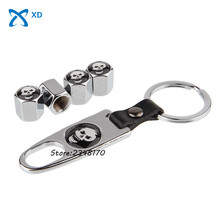 Wrench Keychain Airtight Steel Wheel Tire Valve Stems Caps Stainless tire valve Car styling for honda Buick skoda Volvo Toyota