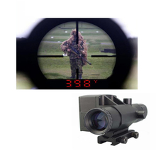 Buy 4X32 Laser Ranging Riflescope Hunting Gunsight laser rangerfinder high speed measurement range finder LS001 for $407.99 in AliExpress store