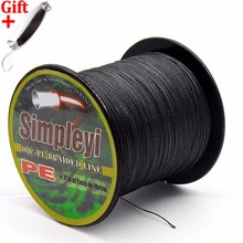 Simpleyi Lure As Gift 500m 6-100LB To Choice PE Braided Fishing Line Power Wire multifilament Rope Cord Carp linha de pesca(China)