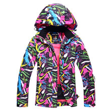 Cheap Women Snow Jacket Ski Snowboard Clothing Waterproof Windproof -30 Warm Winter Coat Ski suit Jackets outdoor sports custome