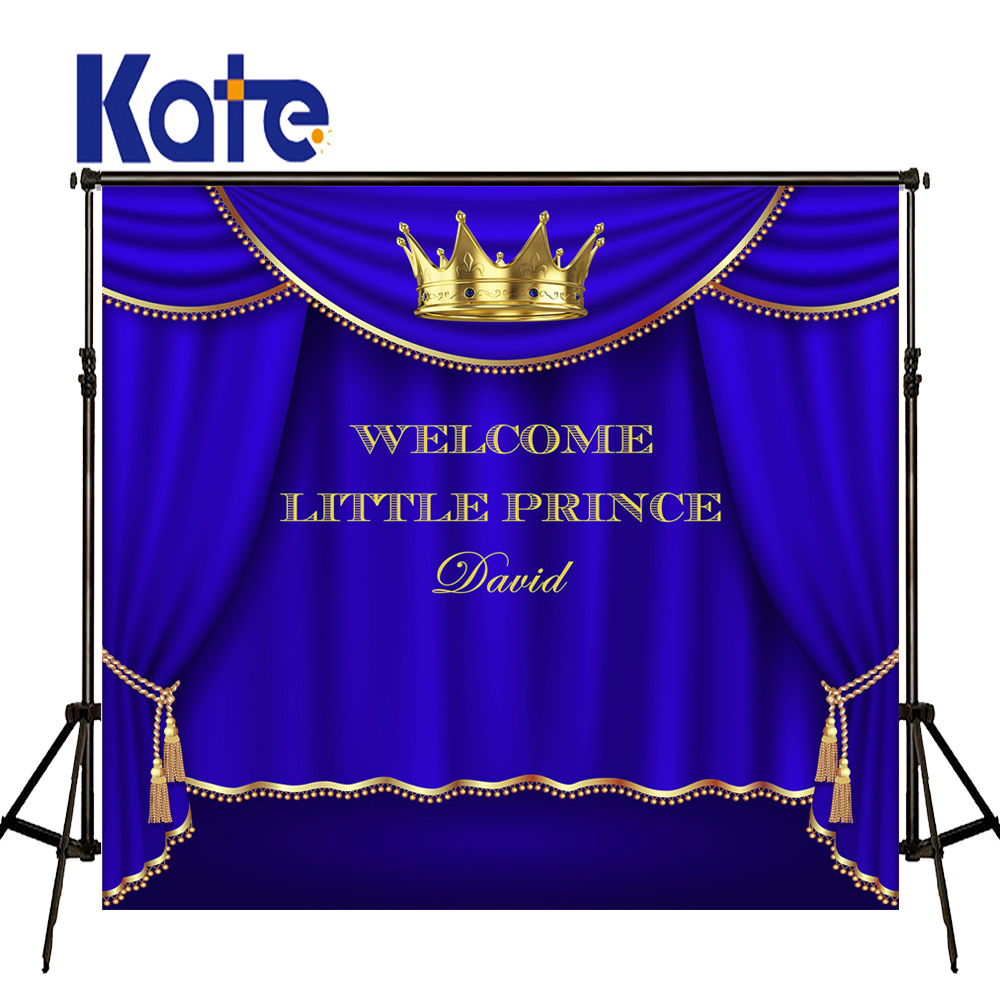 KATE Photo Background 10x8ft Blue Curtain Background Photography Children Birthday Photos Custom Backdrop for Newborn Photocall<br>