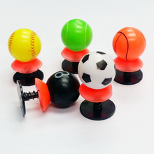 6 pc e395 Happy Ball Spring Jump Ups Pop Up Toys Boys Kids Toys Birthday Party Pinata Bag Filler Loot Favors Gift Prizes Novelty