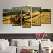 Drop Shipping Unframed 5 Pieces Canvas Painting Harvesters In Wheat Field Modern Home Decoration Wall Decorative Painting