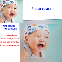 Unique Gifts Custom Canvas Painting Your Photo on Canvas Custom Canvas Wall Art Personalized Canvas Prints(China)