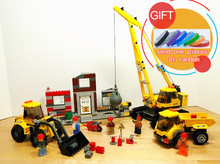 02042 869PCS Demolition Site City Construction Demolition Site Building Blocks Bricks Toys for Kids 60076 lepin