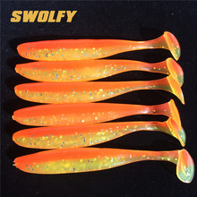 Swolfy 6pcs/bag 5cm 7cm 10cm  pike bass soft baits t tail lure jig hook baits accessory all for fishing silicone bait soft lure