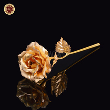 24k Gold Foil Plated Rose Gold Rose Wedding Decoration Flower Valentine's Day Gift Lover's Gold Dipped Rose