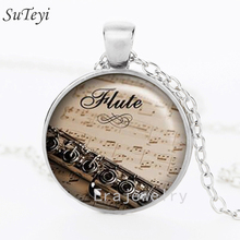 New fashion 2017 Flute pendant necklace,music pendant flute player pendant music necklace Jewelry Gift For Men