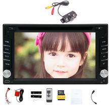 Hot Sale!!! New Model 2 DIN 6.2-inch In Dash Car DVD Player LCD Touch Screen Windows system GPS SAT Navigation Free 8GB MAP Card