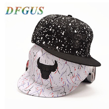 DFGUS Fashion Baseball Cap Men Hip Hop Snapback Caps Summer  Cow Hats For Men Women Casquette Bone Gorras