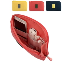 Fashion Travel Bags Small Large Electronic Accessories Portable Women Men Cable USB Earphone Organizer Bag Insert Case Pouch(China)