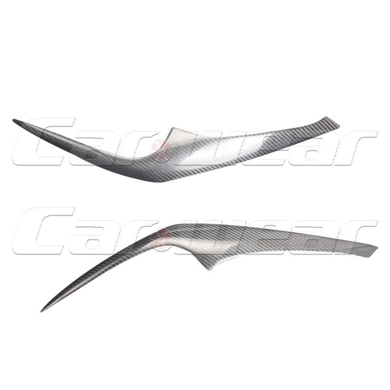 For Hyundai Coupe Carbon Fiber Car Headlight Eyebrows Cover Trim Sticker 2003-2006<br>