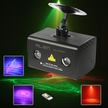 Remote RG Aurora Led Laser Stage Light Professional laser stage lighting Dj Led Light RGB DMX(China)