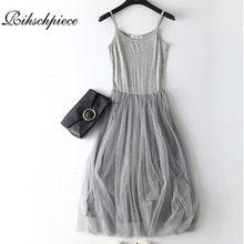 Rihschpiece Summer Maxi Dress Women Tunic Gauze Sundress Plus Size Dress  Vintage Sexy Beach Mesh White Long Dresses RZF1172 b58454f252ac