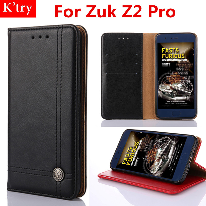 Flip Leather Case Lenovo Zuk Z2 Pro Luxury Retro Line Wallet Flip Cover Conque Lenovo Zuk Z2 Pro Funda