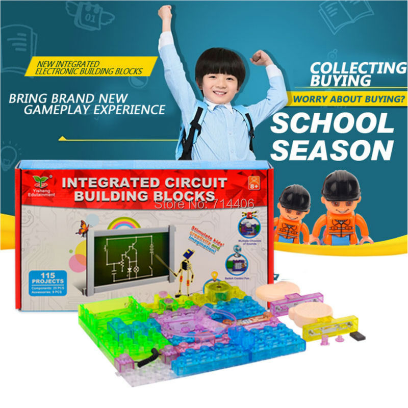 115 projects integrated electronic building assembled blocks amazing colorful toys educational learning toys,plastic model kit<br><br>Aliexpress