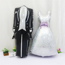 Buy Wedding dress balloons wedding Gown events bride groom bridal gown helium Foil Balloons Wedding Decoration wedding favors gifts for $5.84 in AliExpress store