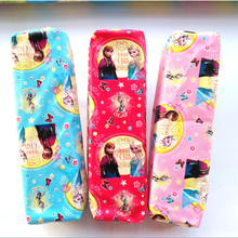 Cute princess pencil case for girls Cartoon PU Leather Elsa Anna pen bag for kids gift Korea Stationery pouch school supplies