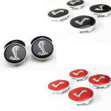 4pcs W250 60mm Car Emblem Badge Sticker Wheel Hub Caps Centre Cover Mustang Shelby Cobra