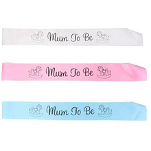 1 PCS Blue/pink/white Mummy To Be Satin Ribbon Sash New Mom Baby Shower Party Favor