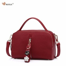 NUCELLE Brand Autumn New Design Fashion Red Small PU Leather Women Handbag Lady Shoulder Cross Body Bag()