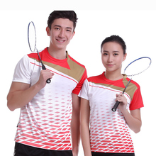 New Sportswear running Quick Dry breathable badminton shirt ,Women /Men table tennis shirt team game short sleeve white T Shirts