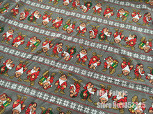 100*140cm Christmas 7 dwarfs cotton elasticity knitted fabric Coat warmer thicker printed baby boy girl diy clothing fabric(China)