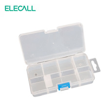 ELECALL 7 Grids Transparent  Plastic Tools Box Electronic Component Storage Box With Compartment Trays Caja De Herramientas