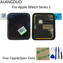 ALANGDUO Tested Original For Apple Watch Series 1 LCD Display Touchscreen Digitizer Assembly 38/42mm Version+Adhesive+Tools