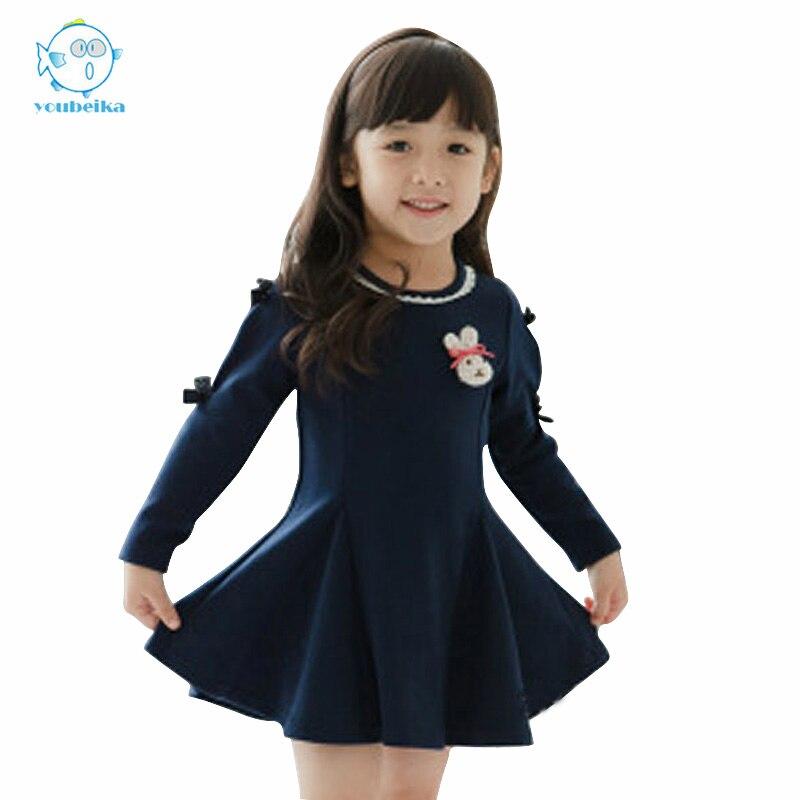 Kids Dress For Girls 2017 Baby Girls Dress Autumn Winter Long Sleeve Clothes Children Dresses Girls New Casual Cotton Dress<br><br>Aliexpress