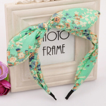 New 1 pc Stylish Women Girls Floral Fabric Butterfly Bow Hair Hoop Rabbit Ears Hairband Hair Bands Accessories Gift