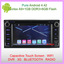 Capacitive Android 4.4 Car DVD Player GPS For Toyota Corolla EX Camry Hilux Prado Vios RAV4  Free MAP IPOD RADIO 3G WIFI BT