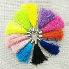 jewelry making tassels charms fiber Tassel caps crimps ends earrings necklace findings rayon fringe trim key chains pendientes