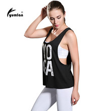 Yumlan Women Yoga Tank Tops Words Active Sports Running Fitness Sleeveless Shirts Ladies Workout Shirt Sports Vest
