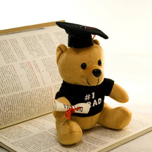 Dr. Bears  Creative Graduation Gift Plush Doctorial hat Bear Toy 20cm Stuffed Soft Gift for Children