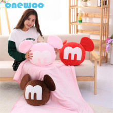 1*1.6m Blanket Stuffed Plush M Toy Pillow Cute Cartoon Doll Blanket Soft Plush Animal Dolls Birthday Gifts for friends & Kids