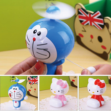 Cute Cartoon Portable Mini Fan of high quality beauty handheld ventilador 3 Blades cooler fan Home office School