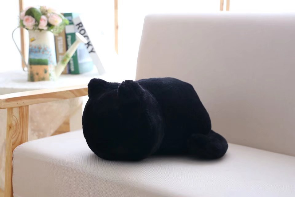 1pcs Cute Soft Cat Stuffed Pillow Lovely Kawaii Animal Plush Shadow Cat Plush Toy For Kids Gift Home Decoration (2)