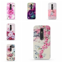 Luxury Floral Painted 3D Relief Case for Motorola Moto X Style Case Soft TPU Cell Phone Cases For Moto X Pure Edition Cover Capa(China)