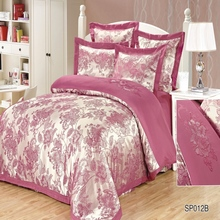 Fashion Quality cotton jacquard bedding Set for bed Duvet Cover set twin full queen king size bed set printed sheet bed