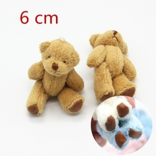 5PCS 6.0cm 2017 New  cute Small Teddy Bears Plush Soft Toys Pearl Velvet Teddy Dolls For Children Girlfriend Gifts