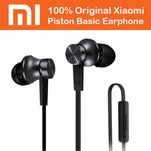 Original Xiaomi Piston 3 Basic Earphones Xiomi 3.5mm In Ear Stereo Headsets with Microphone Stereo Headsets for Iphone Android(China)
